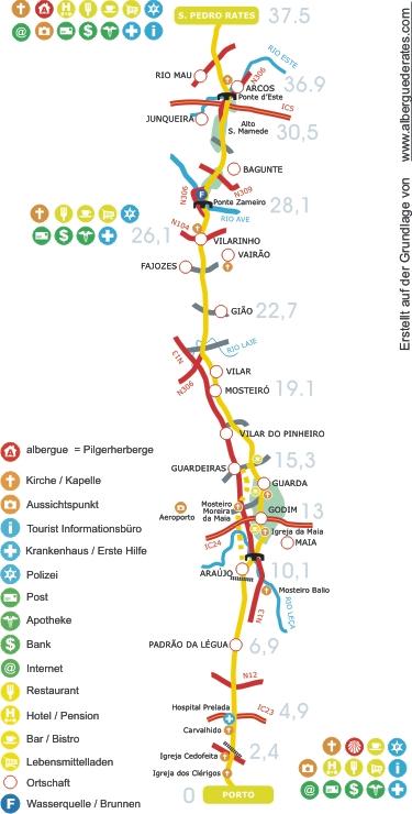 Camino Portugues Karte.Caminho Portugues Etap01
